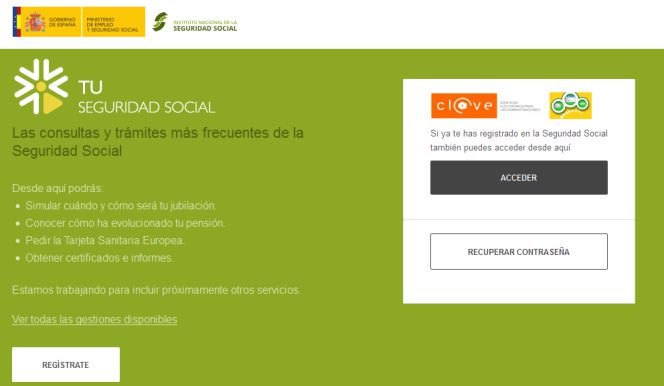 Calculadora pensión Seguridad Social
